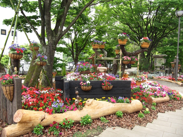 Garden in the city of Mishima
