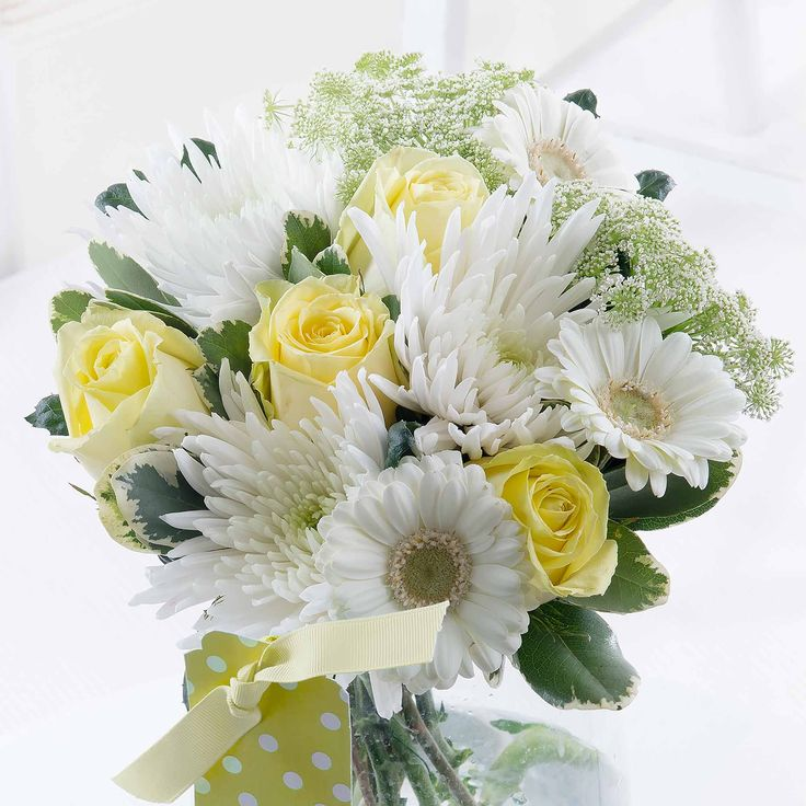 New Baby Bouquet - A careful mix of flowers in soft tones, our New Baby Bouquet is the perfect way of saying hello to the new arrival.