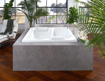 "Simeon Harbor's ""Wildwood"" Acrylic Bath tropical-bathtubs"