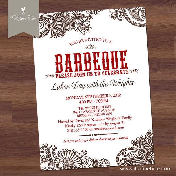 The 25+ best Barbeque wedding ideas on Pinterest Bohemian - free printable dinner party invitations