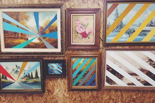 DIY Thrift Store Art from Scott Erickson Art  This simple but high impact DIY gives thrift store art a second life.