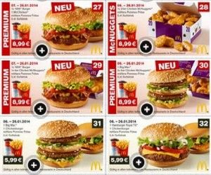 Mcdonalds coupons germany