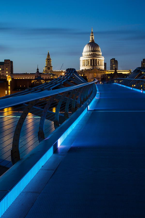 Millenium Bridge Blue Hour I London