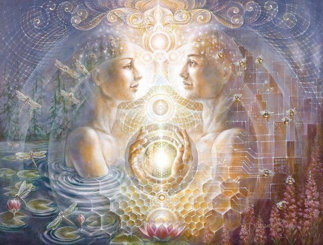 Le vrai amour entre deux personnes montre deux champs d'énergie qui peuvent fonctionner en complète indépendance l'un de l'autre. Chacun d'entre eux est une unité à lui &#82…