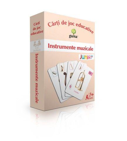 Instrumente muzicale - Editura Gama: Varsta: 3-6 ani; Carti de joc educative ce pot fi utilizate si in invatarea dupa principii Montessori. Cardurile contin imagini realiste.