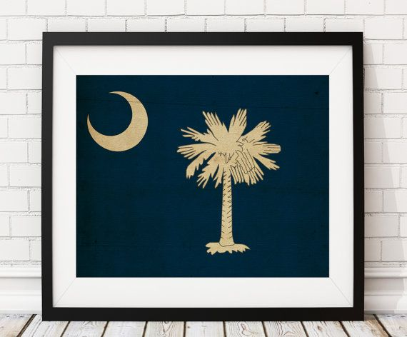 South Carolina Flag Art starting @ $9. https://www.etsy.com/listing/495208393/south-carolina-flag-art-south-carolina?ref=shop_home_active_3  South Carolina Flag Print, Flag Poster, SC State Flag, SC Painting, South Carolina Gifts, South Carolina Art, Vintage Flag by @Fatfrogprints