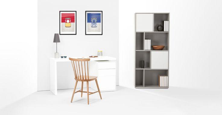 Stretto Tall Shelves, Grey | made.com