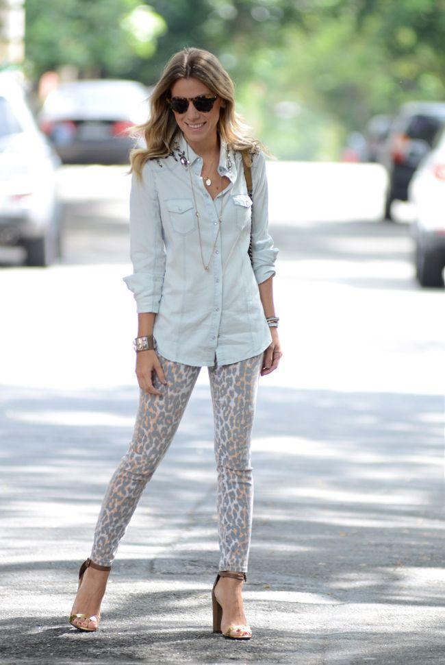 Naty in Jeans & Leopard
