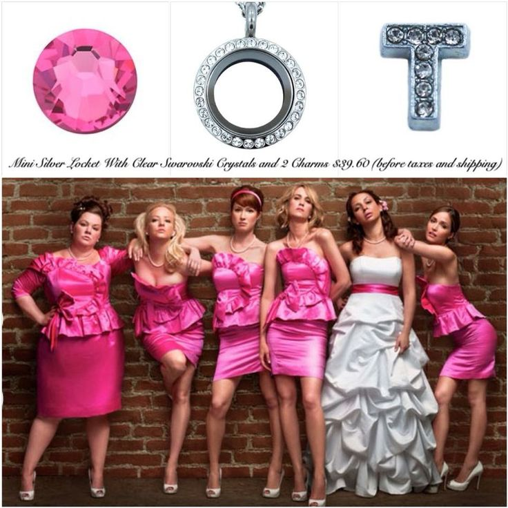 Love the pink?  Why not add a locket to your bridal party?