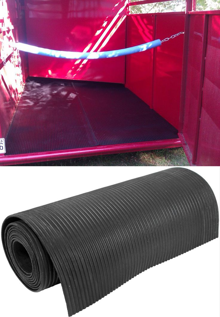 One super awesome trailer accessory! This ribbed rubber trailer mat can be used on floors, walls and dividers - reduces moisture in hot weather, dust in dry and is great for insulation from cold and sound. Great for trailer organization and functionally!