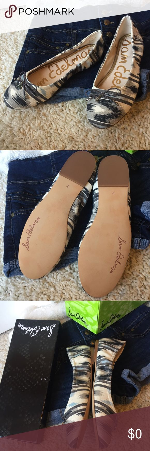 Sam Edelman Felicia Flats NWB Sz 8 Gorgeous, practical and appropriate for any occasion, these flats feature a lovely set of colors: ivory, gray, navy, and sky blue. New with box. Fit true to size. Fabric upper and leather sole. Sam Edelman Shoes Flats & Loafers