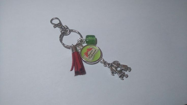 """Porte-clés, Porte clé - Bijou sac """" Merci maitresse """" est une création orginale de Ma-folie-creative-bijoux sur DaWanda"""