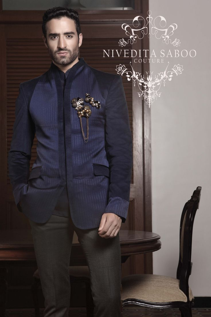 Nivedita Saboo Clothing Men Fashion Bandhgala Indianwear Weddingtrouseau Niveditasaboo  Clothing For Him  Mens Indian Wear, Wedding Dress -7774