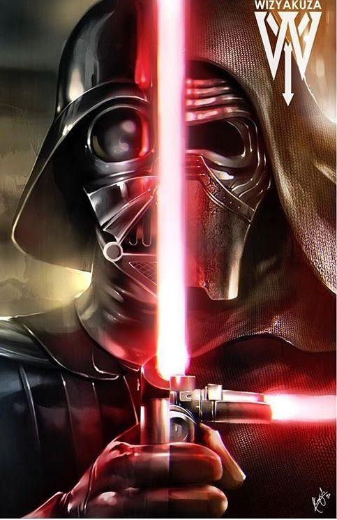 Star Wars : Vader / Kylo Ren - fan art by wizyakuza (ceasar ian muyuela)