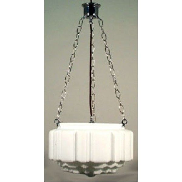 Art Deco style Shade on 3 Chain Suspension