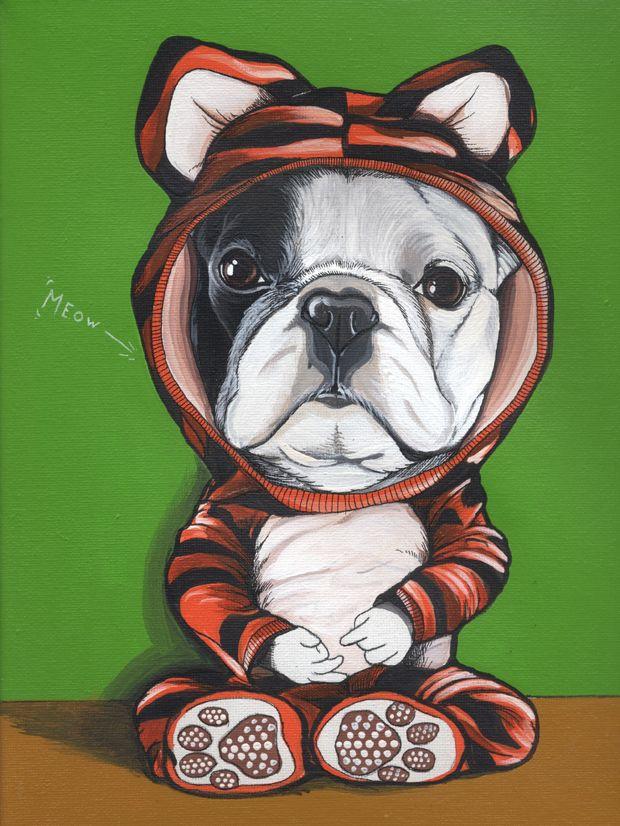 French Bulldog illustration❤️