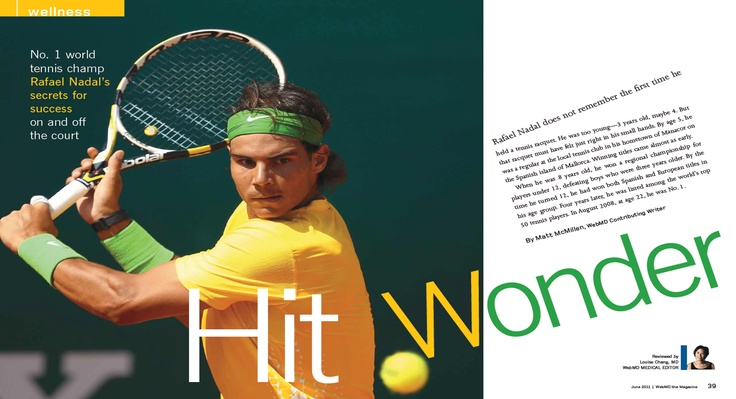 motivating individual - Rafael Nadal   he works almost all of the 365 days in a year!  #webmdsweeps