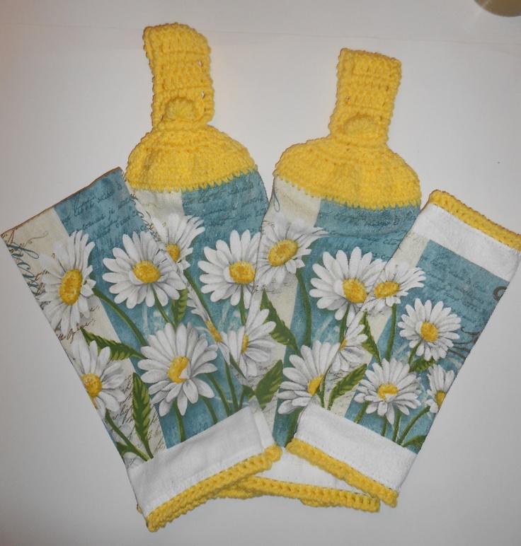 Daisy Kitchen Decor: 100 Best Hanging Kitchen Towel Sets Images On Pinterest