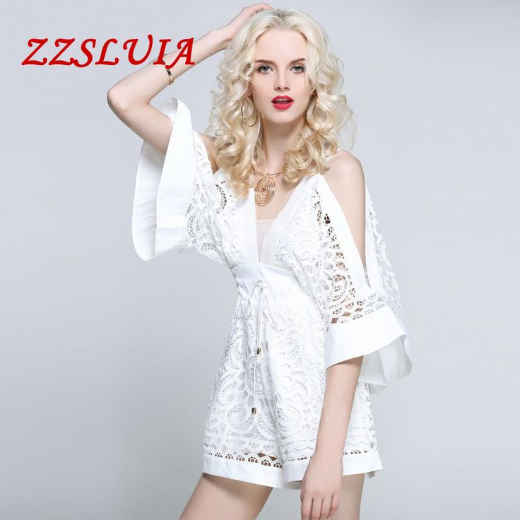 Cheap playsuits jumpsuits, Buy Quality designer jumpsuits directly from China fashion jumpsuit Suppliers: 2017 new arrival new fashion solid color elegant sexy V-neck embroidery hollow out designer high waist playsuits jumpsuit 9054