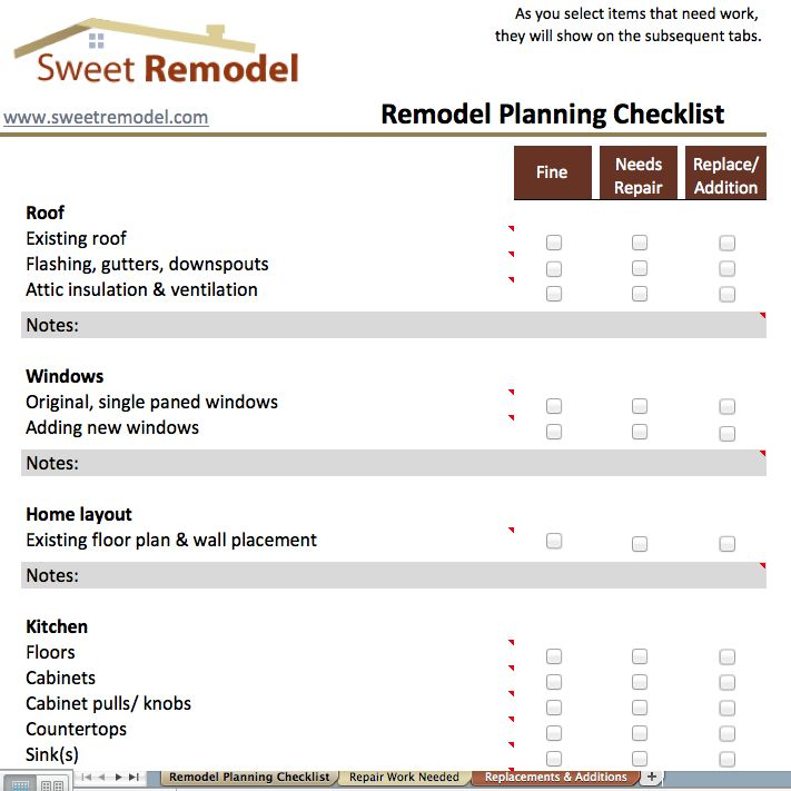 13 best Home Improvement - Resources images on Pinterest - renovation checklist template