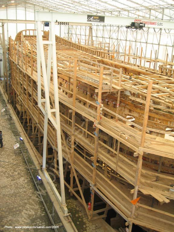 """ L'Hermione "", nice frigate under construction in Rochefort (France)"