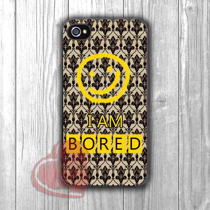 Sherlock holmes bored -ssR for iPhone 6S case, iPhone 5s case, iPhone 6 case, iPhone 4S, Samsung S6 Edge