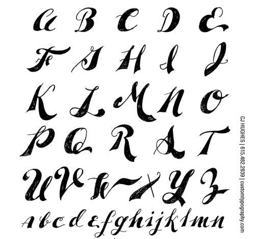 fancy styles of writing alphabets preschool