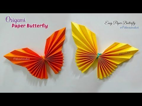 Paper Butterfly || How to make paper butterfly origami - YouTube
