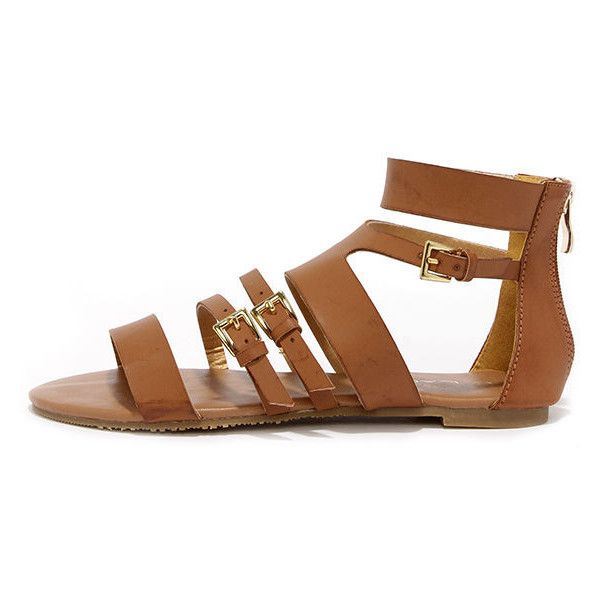 Mediterranean style is as easy as the Cypress Cognac Gladiator Sandals!  This cute Boho look includes a strappy vegan leather upper with gold  buckles.
