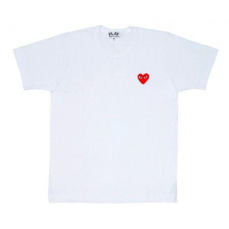 Red Play T-Shirt (White) | Play | Comme Des Garçons