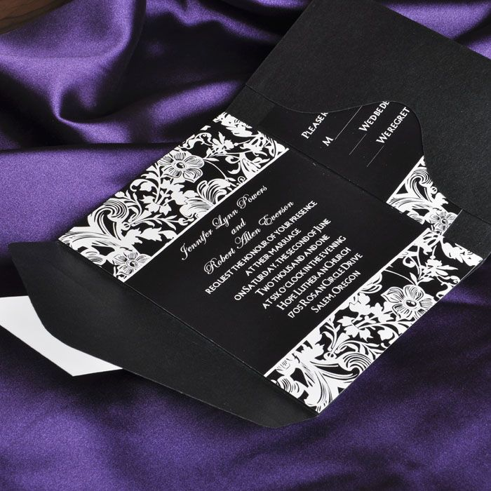 1000 images about Invitations Programs – Wedding Invitations with Free Response Cards