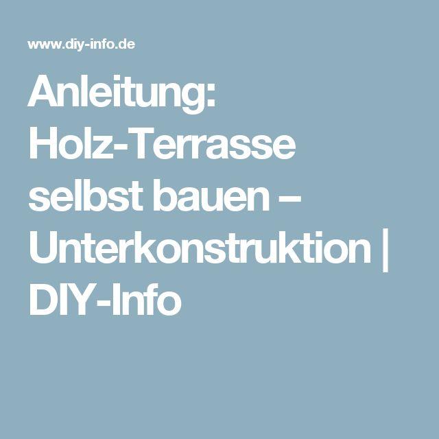 Terrasse Holz Unterkonstruktion Anleitung ~ despre Terrasse Unterkonstruktion pe Pinterest  Douglasie Terrasse