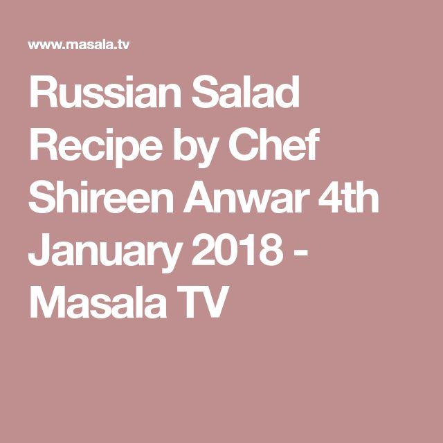 Russian Salad Recipe by Chef Shireen Anwar 4th January 2018 - Masala TV