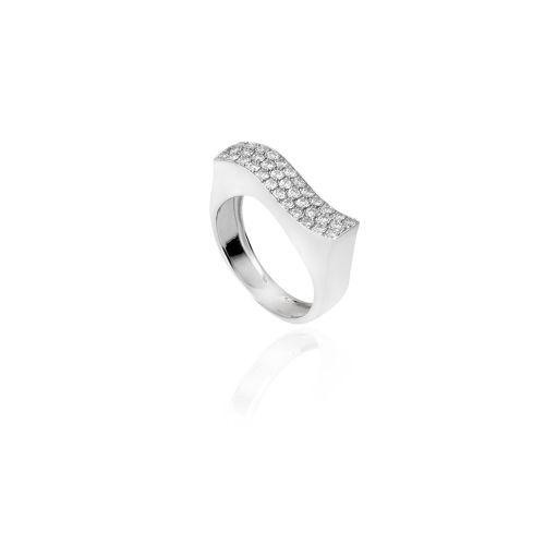 New Diamond Spirit ring in 18KT white gold with diamonds.