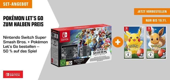 Nintendo Switch Super Smash Bros Ultimate Edition Spielkonsole Pokemon Let S Go Pikachu Oder Evoli Nintendo Switch Nintendo Und Super Smash Bros