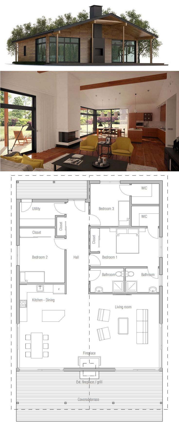 We would just need a little more space for the office and a studio space/my office (I need space for my art supplies and education books/papers/materials) But essentially if this floor plan was stretched a bit and maybe one room added, we'd be good.