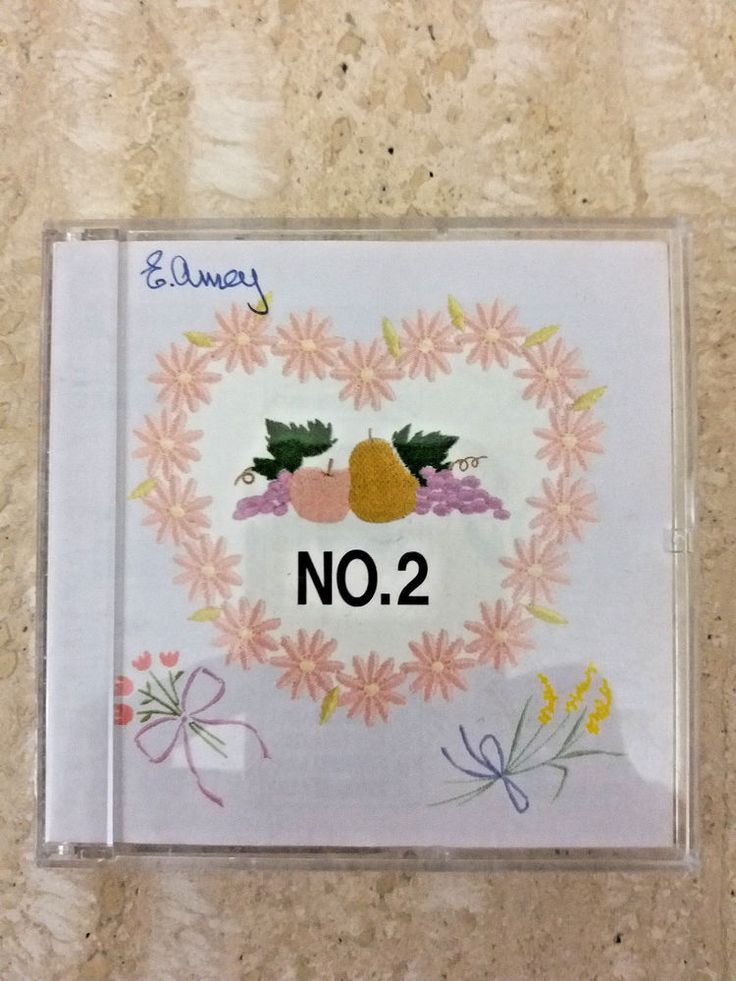 Bernina Embroidery Card No. 2 Brother embroidery machines very rare Floral #BrotherBERNINA