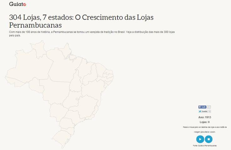 O Guiato desenvolveu um infográfico que exemplifica esse crescimento, com o passar do século, e mostra através de números a distribuição das mais de 300 lojas espalhadas pelo país. Confira e se surpreenda com esta marca que está presente em nossas casas desde 1913.  http://www.guiato.com.br/info/lojas-pernambucanas/  #infografico #pernambucanas #ofertas