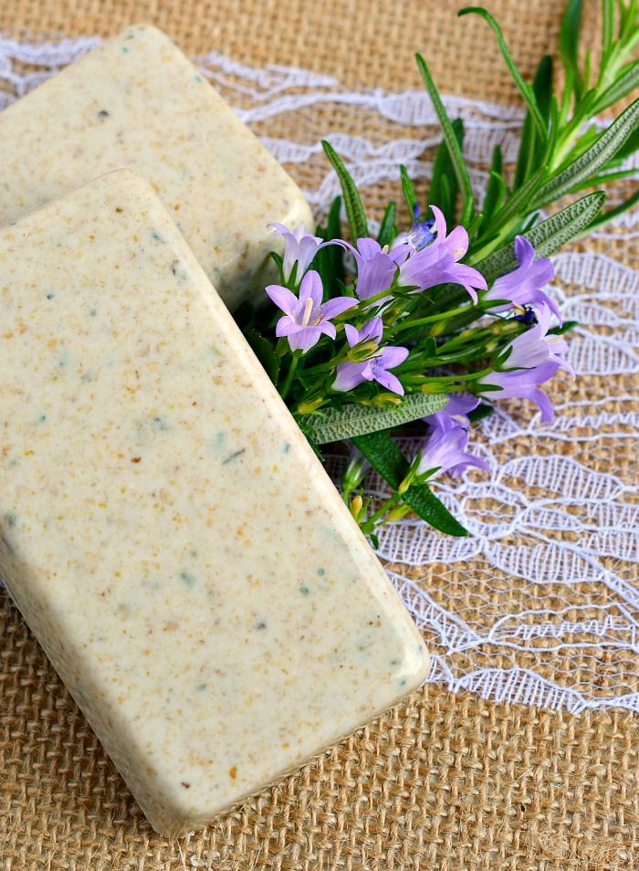 cold process soap with oatmeal