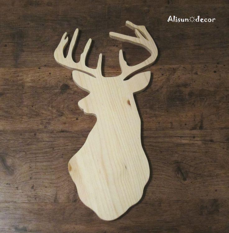 handmade deer head