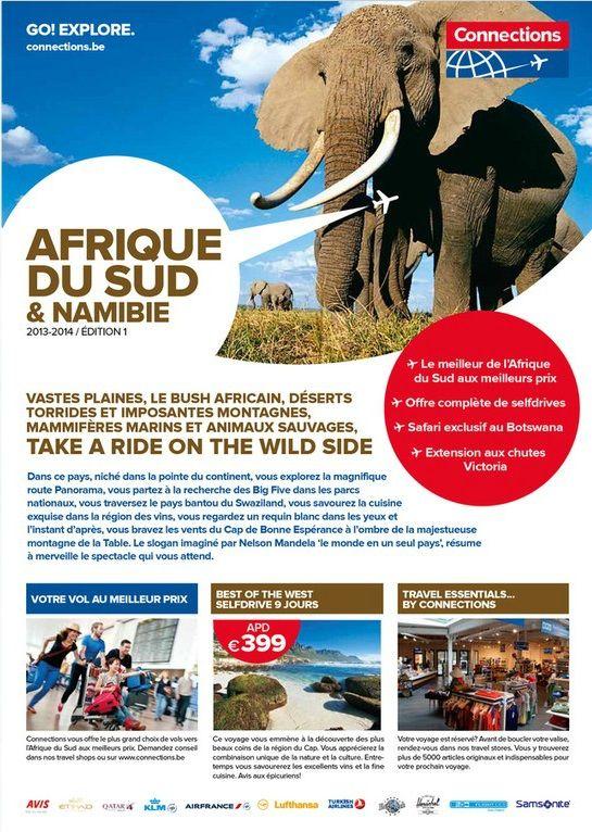 Brochure Afrique Du Sud & Namibie 2013: http://www.jambooty.be/nl/document/1003319