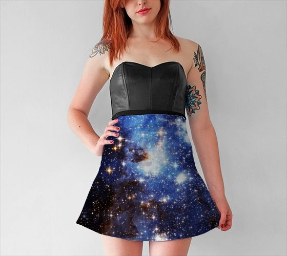 Blue Galaxy Flare Skirt - Available Here: http://artofwhere.com/shop/product/47308