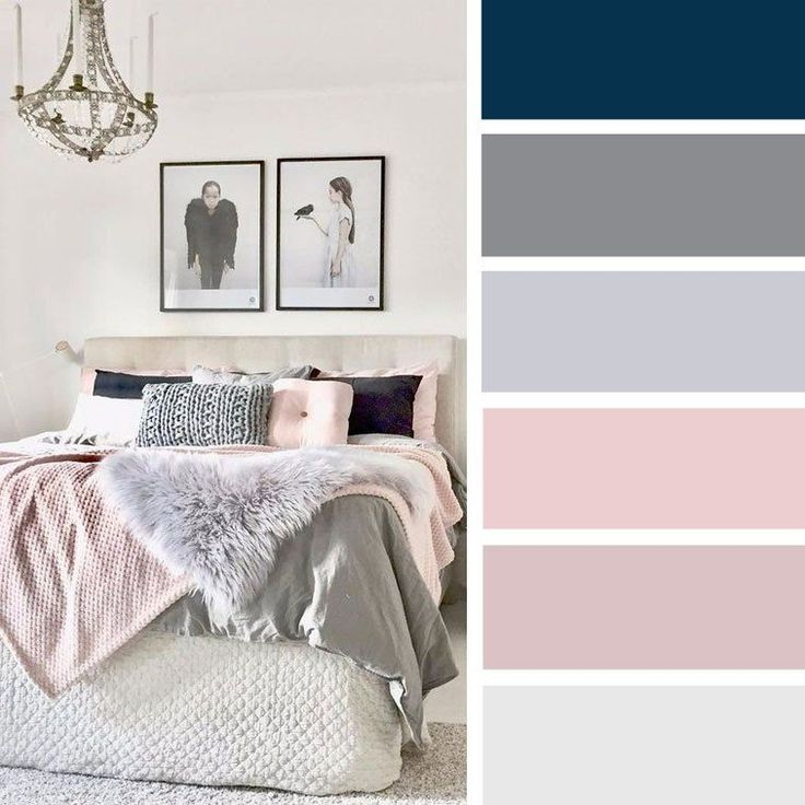 15 Best Color Schemes For Your Bedroom Blush Pink And Grey Color Inspiration Color Bedro Bedroom Inspiration Grey Grey Bedroom Colors Blue And Pink Bedroom