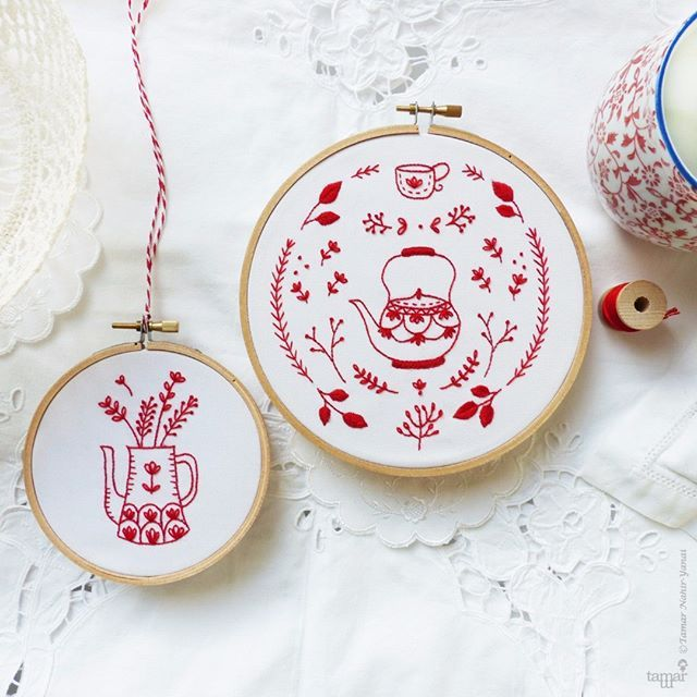 I always try to find a unique colorfulness for every design. This time I was curious to explore the Redwork embroidery designs and worked by the classic traditional line. I'm excited to introduce New Embroidery designs in a special discounted bundle 😍 . . . Some kits available at dmc-partner shops in the UK and US . . . #broderie #kits #patterndesign #craftkits #embroideryart #embroiderykit #embroiderylove #threads #tamarny #textileart #textilelove #embroiderydesign #hoopart #handmade…