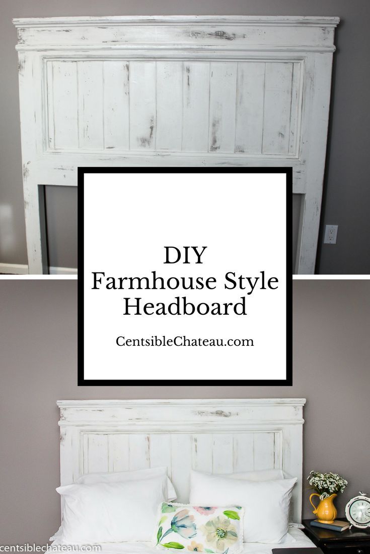 Build your own Farmhouse Style Headboard for around $100. This white headboard will be the focal point of your new bedroom decor.