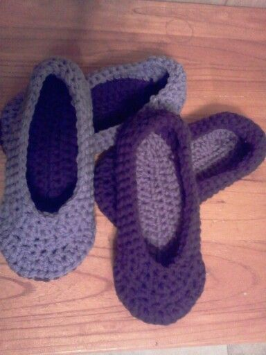 Crochet house slippahs