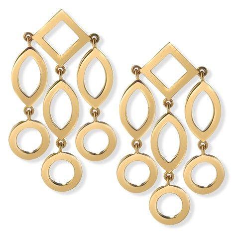Cassandra Goad Temple of Heaven girandole pendant earrings in yellow gold
