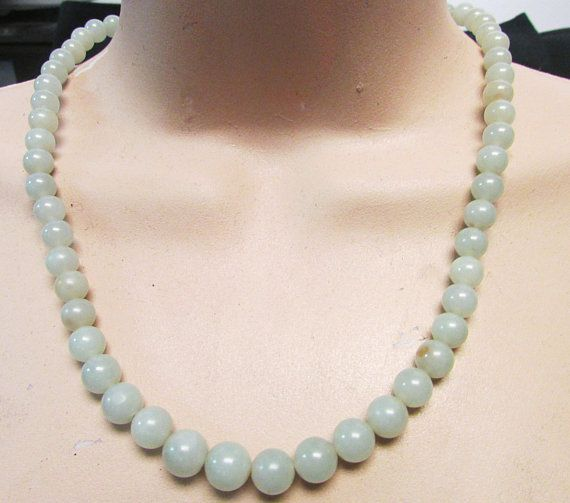 Beautiful Chinese Handcraft 100/% Natural  Green  Necklaces 8mm