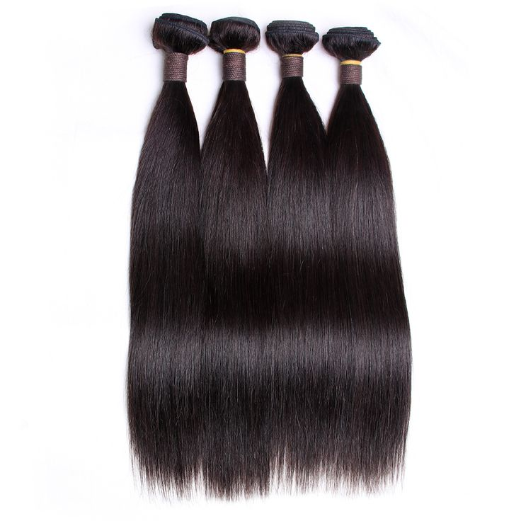 By Brazilian Virgin Hair Straight 4 Bundles 100% Unprocessed remy Human Hair Weave Extensions 12\