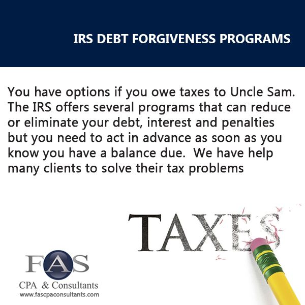 IRS Debt Forgiveness Programs